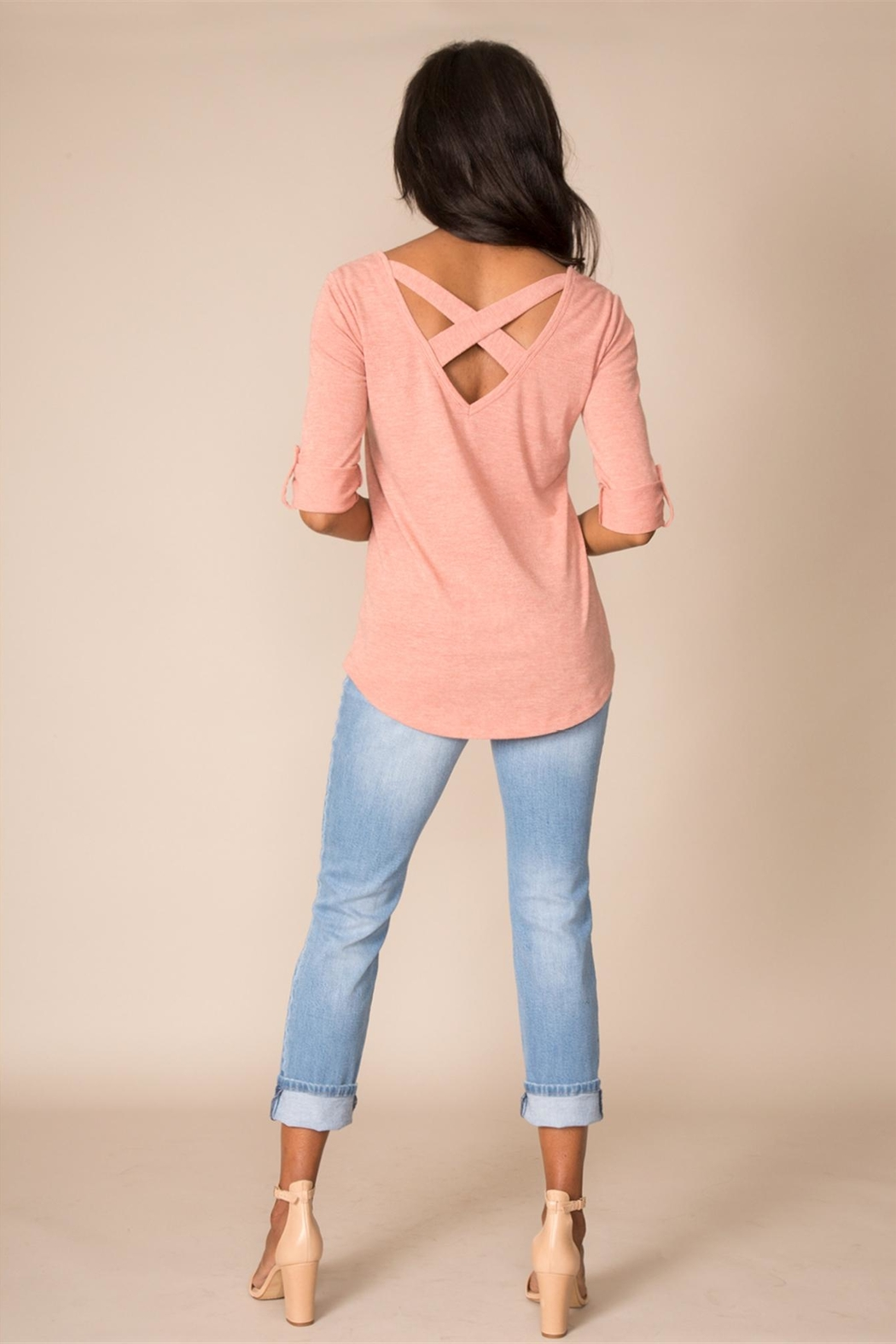 Simply Noelle Crisscross Back Top - Front Cropped Image
