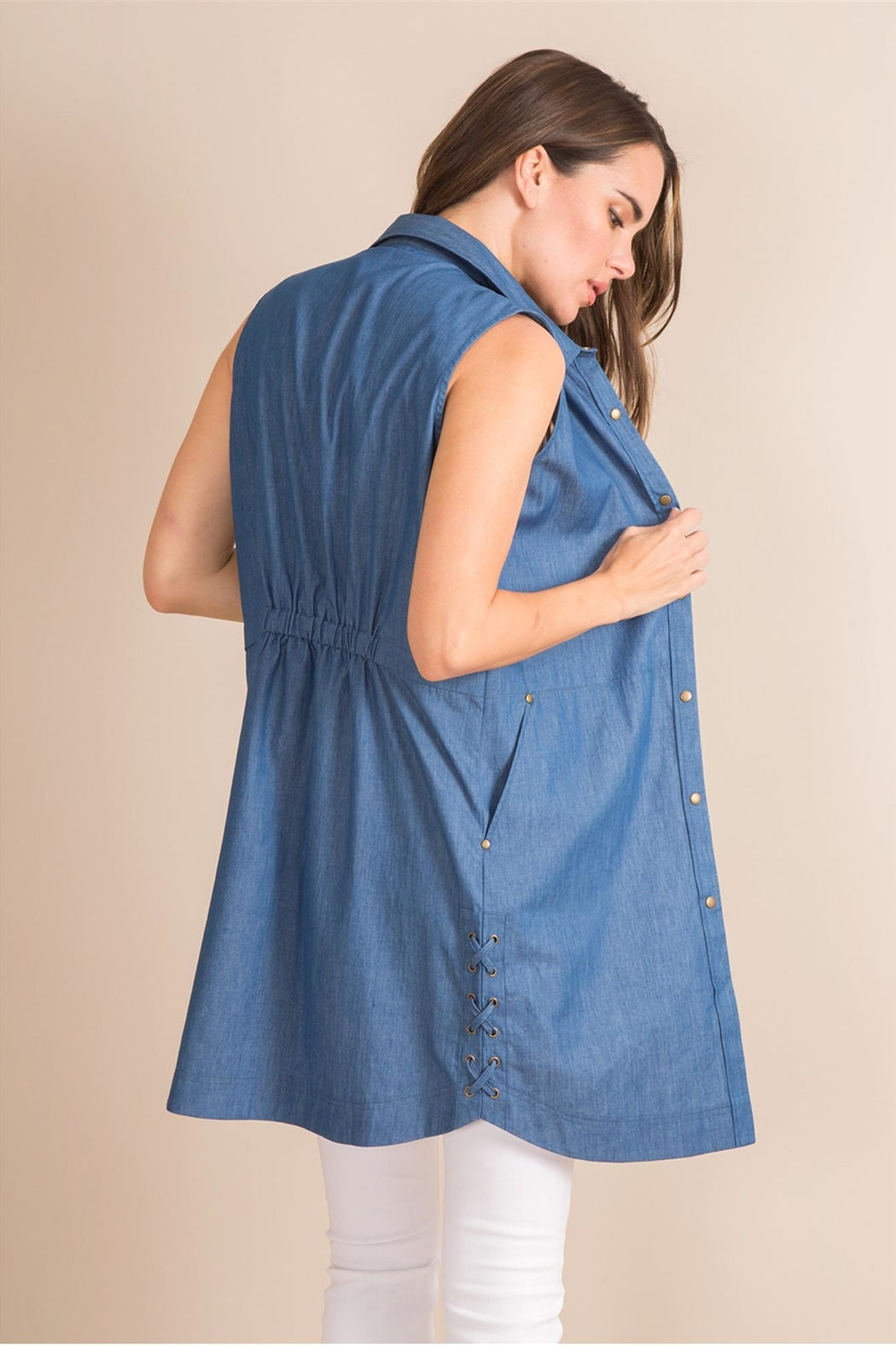 Simply Noelle Denim Convertible Dress - Back Cropped Image