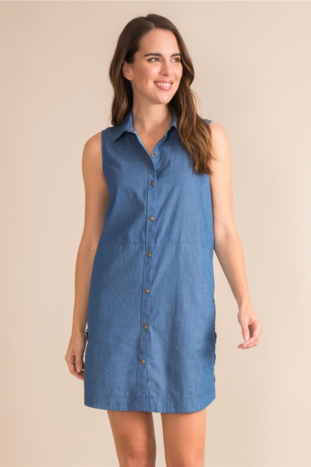 Simply Noelle Denim Convertible Dress - Front Cropped Image