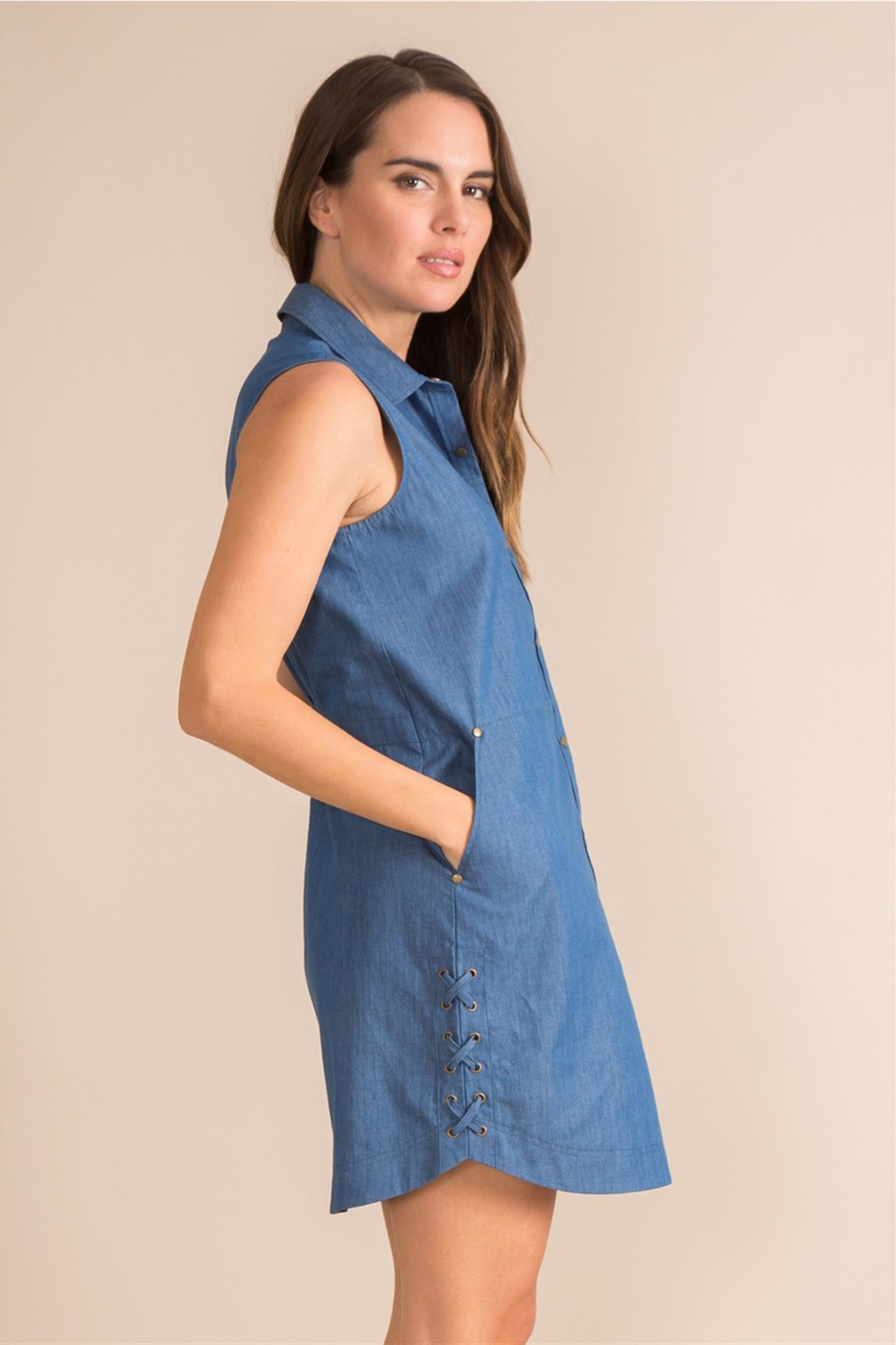 Simply Noelle Denim Convertible Dress - Front Full Image