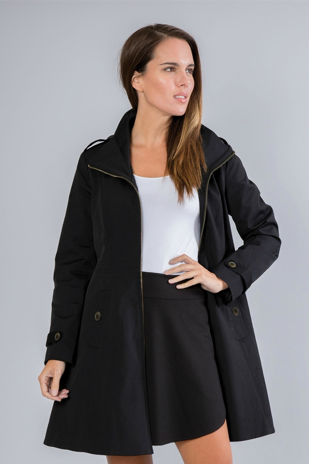 Simply Noelle Fit-And-Flare Rain Coat - Main Image