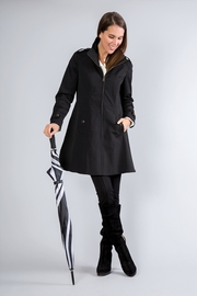 Simply Noelle Fit-And-Flare Rain Coat - Front cropped
