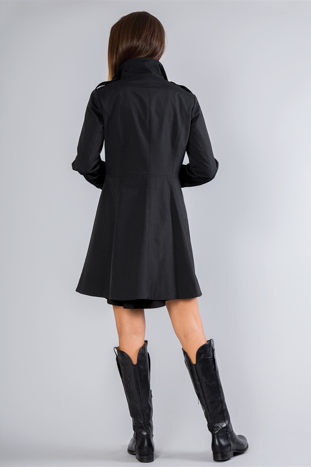 Simply Noelle Fit-And-Flare Rain Coat - Side Cropped Image