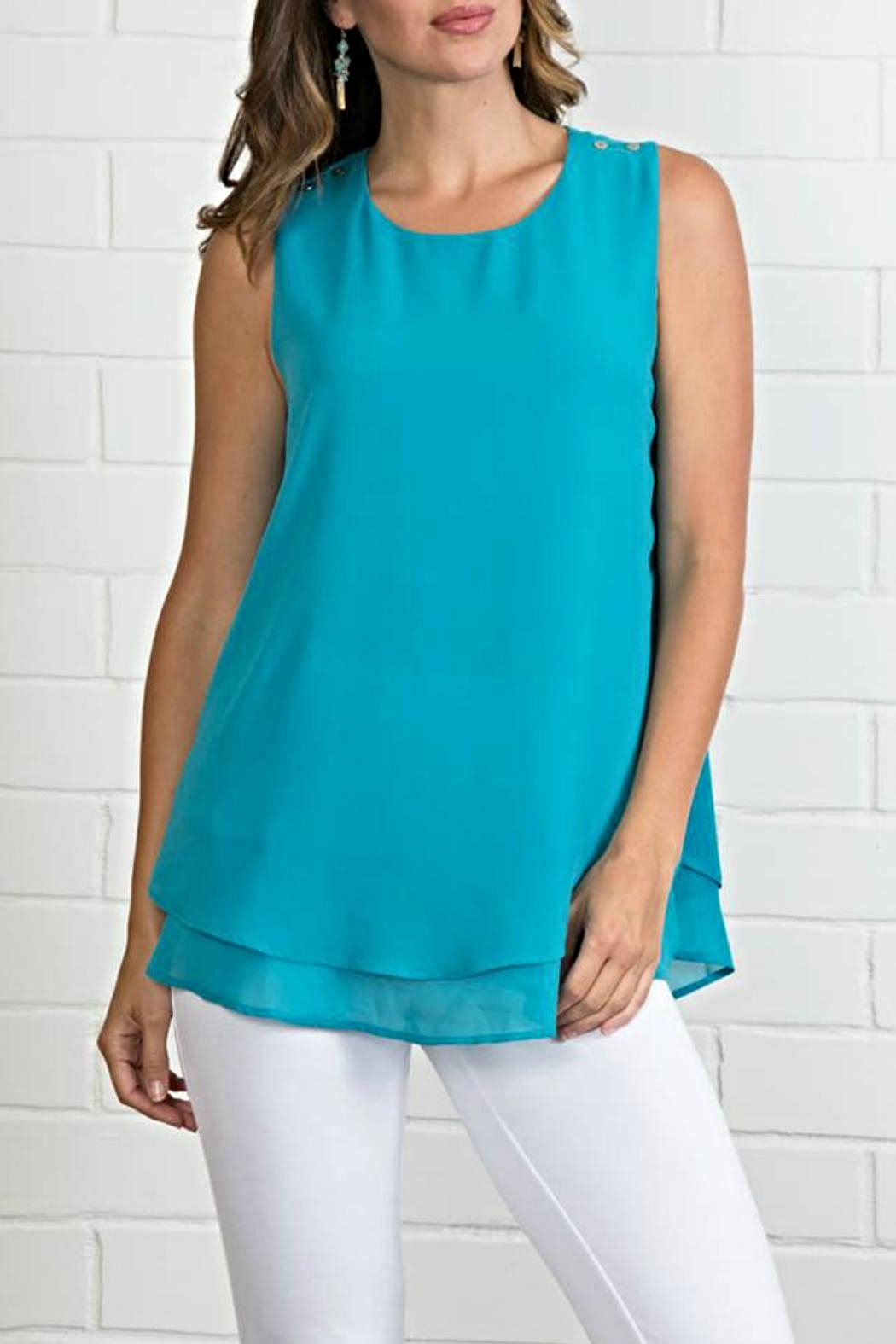 Simply Noelle Flowing Summer Tank - Front Cropped Image