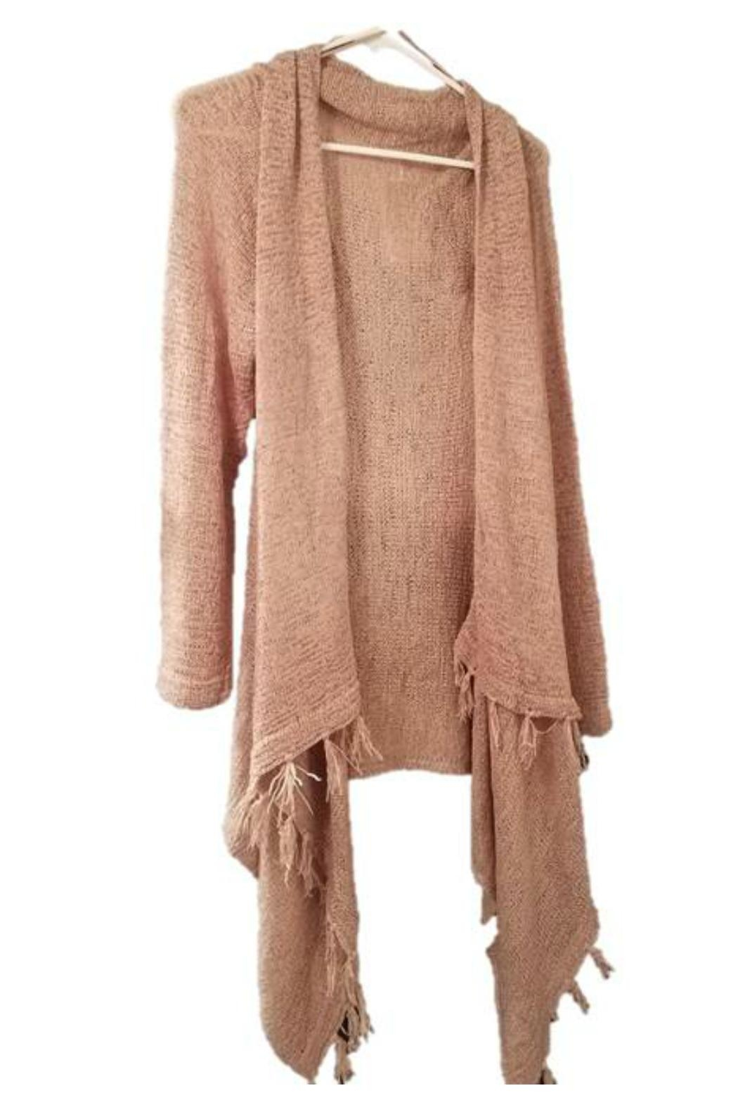 Simply Noelle Fringe Cardigan - Front Cropped Image