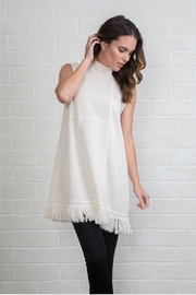 Simply Noelle Fringe Knit Dress - Product Mini Image