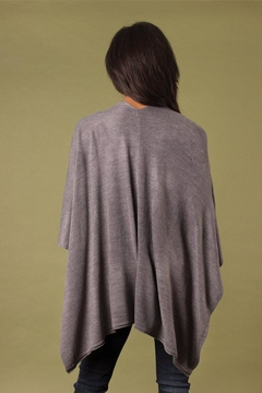 Simply Noelle Heathered Bordeaux Cardi Wrap Poncho Putty - Alternate List Image