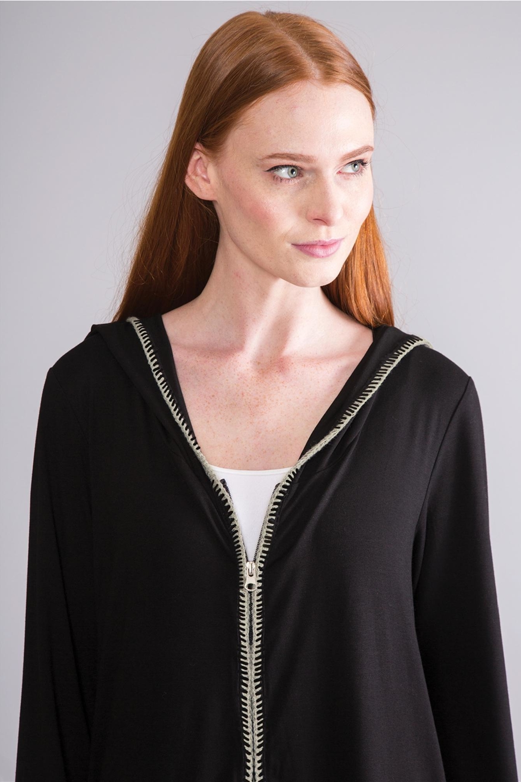 Simply Noelle Hooded Lightweight Jacket - Back Cropped Image