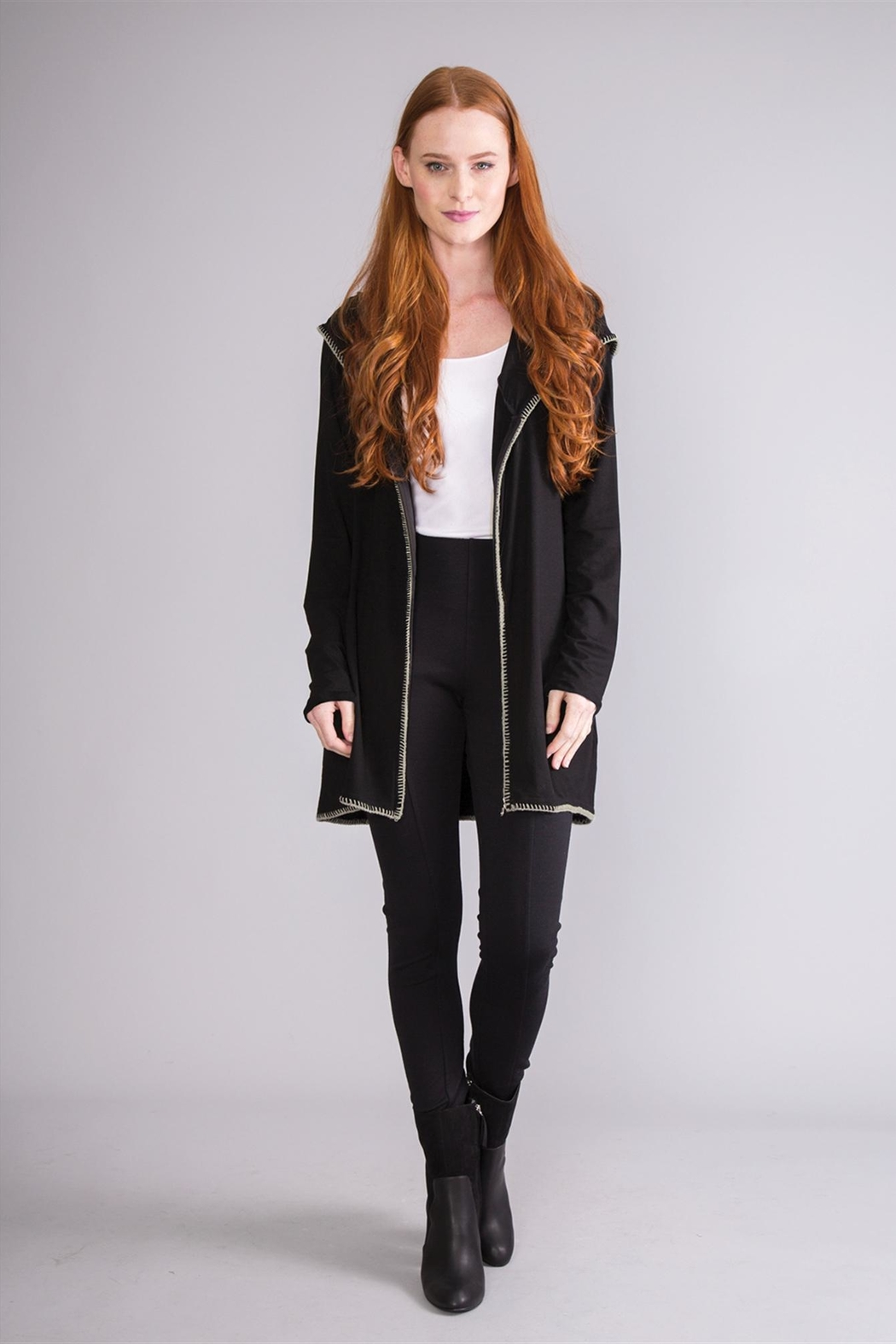 Simply Noelle Hooded Lightweight Jacket - Front Cropped Image
