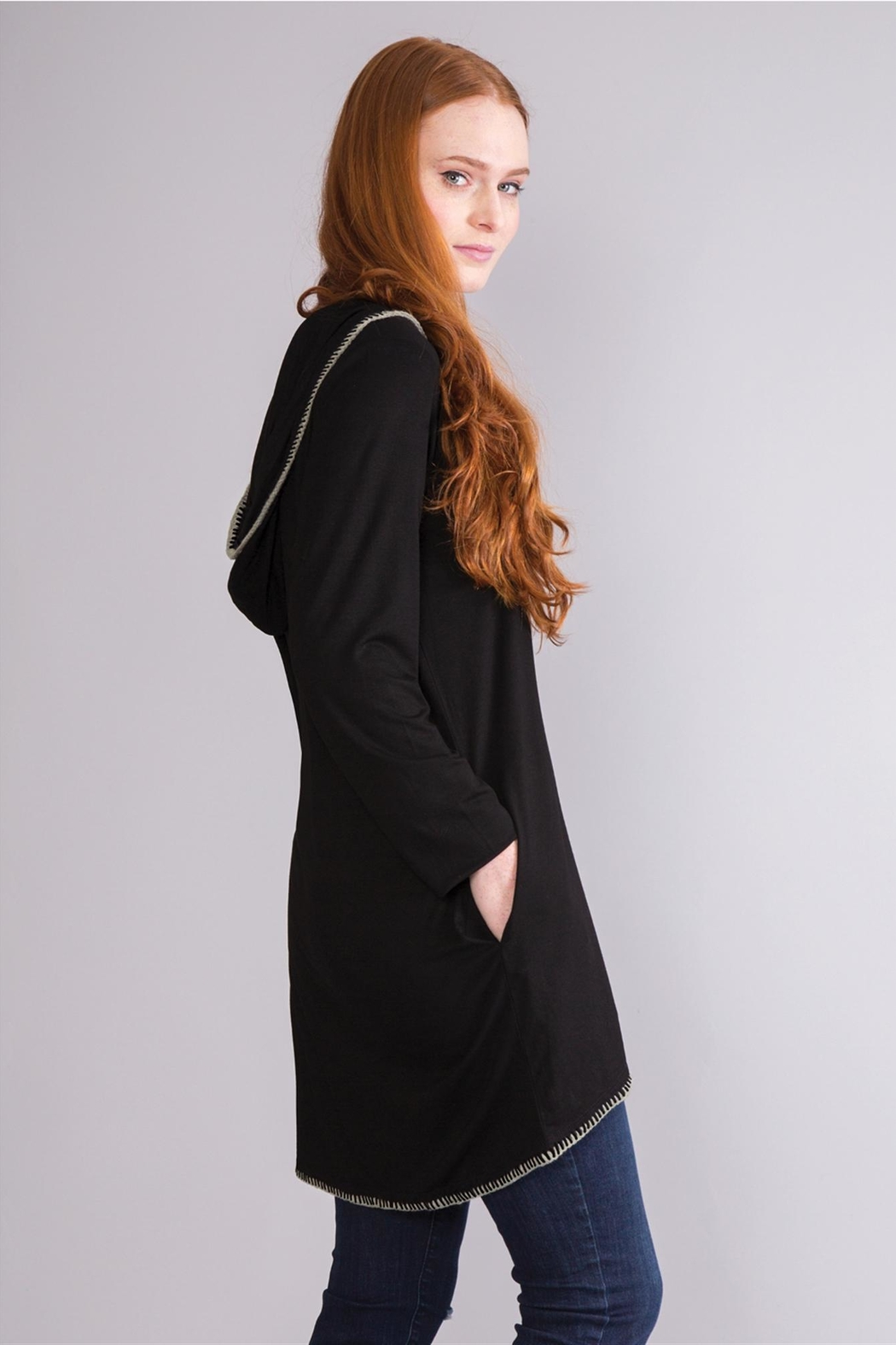 Simply Noelle Hooded Lightweight Jacket - Side Cropped Image