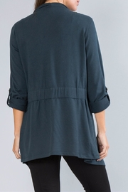 Simply Noelle Open Crossover Cardigan - Front full body