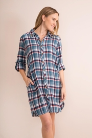 Simply Noelle Plaid Convertible Dress/wrap - Side cropped