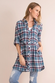 Simply Noelle Plaid Convertible Dress/wrap - Front full body