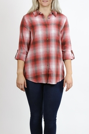 Simply Noelle Plaid Flannel Shirt - Product Mini Image