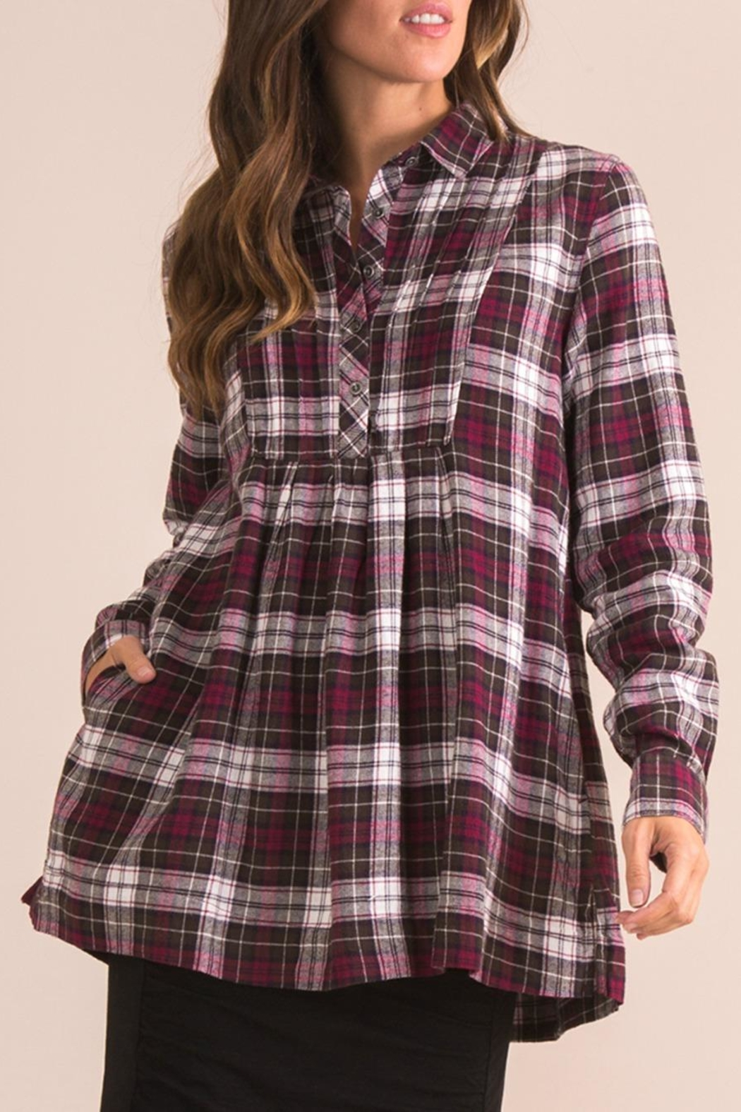 Simply Noelle Plaid Plum Top - Main Image
