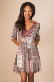 Simply Noelle Quilt-Pattern Boho Dress - Front cropped