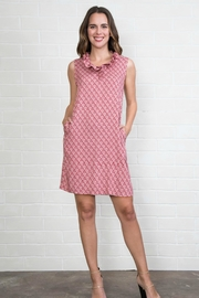 Simply Noelle Ruffled-Collar Patterned Dress - Product Mini Image