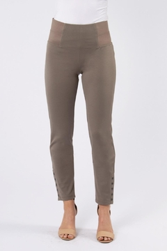 Simply Noelle Taupe Button Pant - Alternate List Image