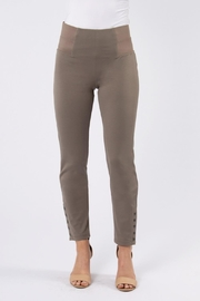 Simply Noelle Taupe Button Pant - Product Mini Image