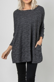 Simply Noelle Textured Slub Pocket Top - Product Mini Image