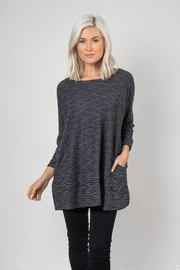 Simply Noelle Textured Slub Top - Front cropped
