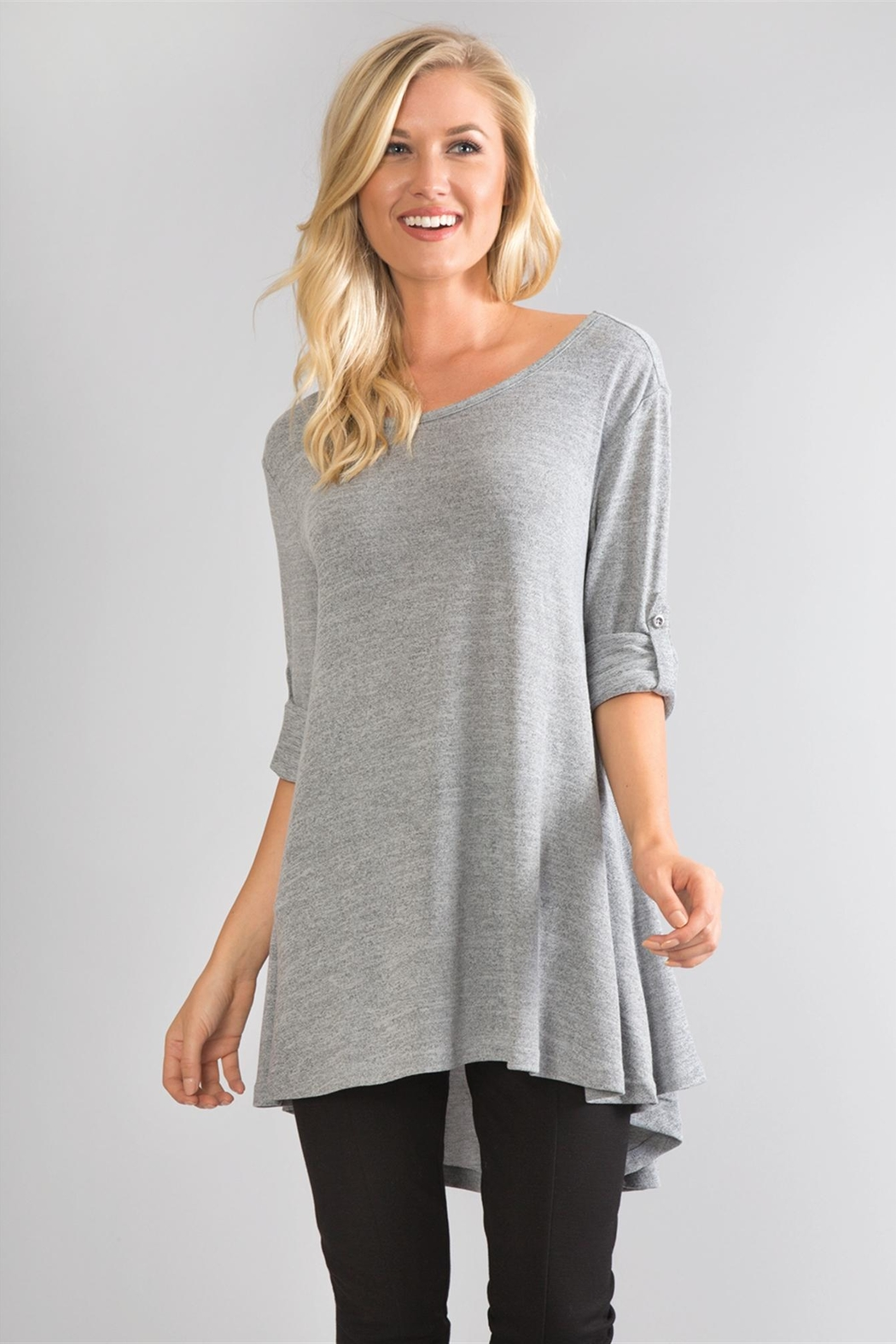 Simply Noelle Tie-Sleeve Knit Tunic - Main Image