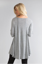 Simply Noelle Tie-Sleeve Knit Tunic - Front full body