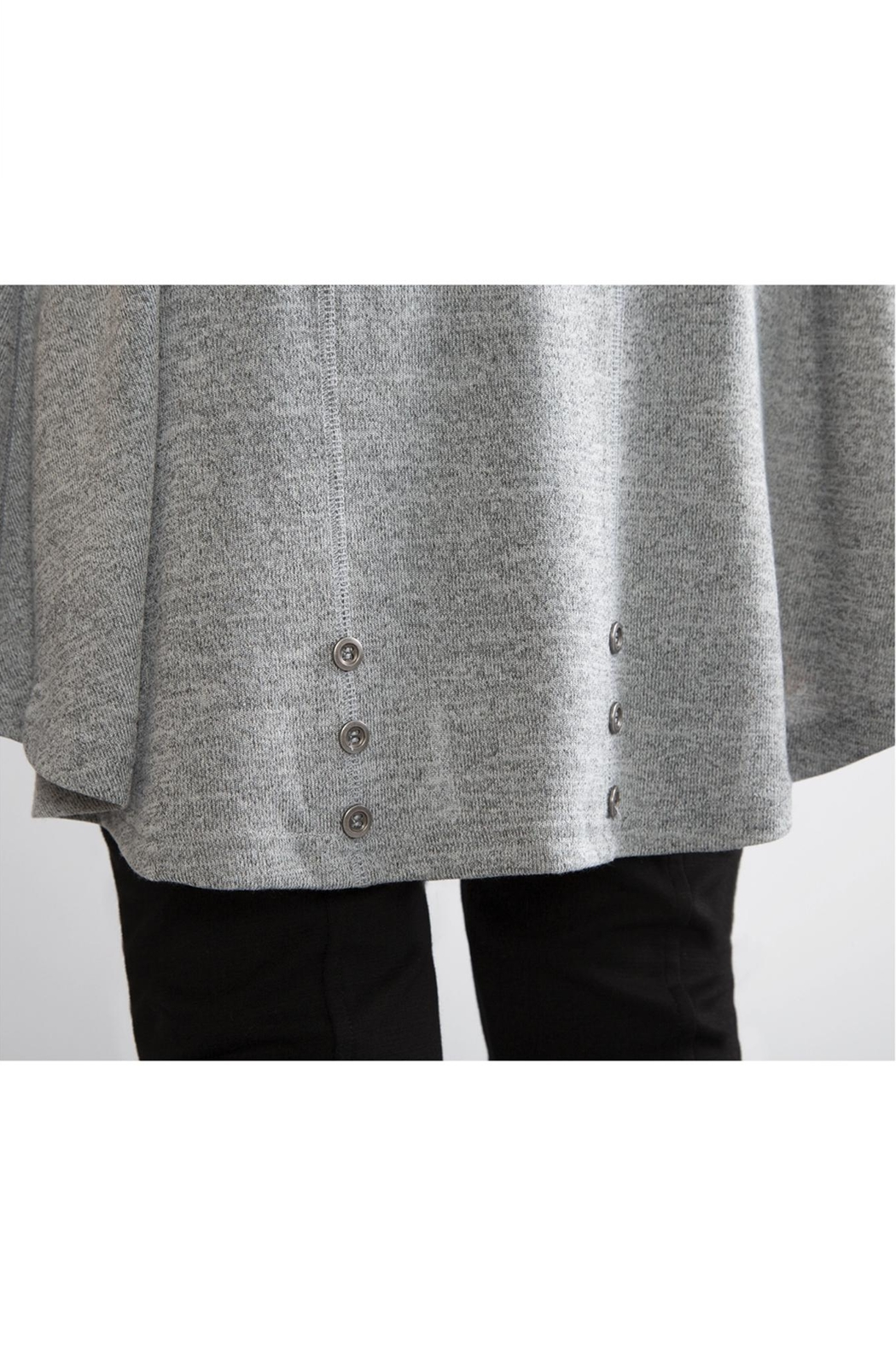 Simply Noelle Tie-Sleeve Knit Tunic - Side Cropped Image