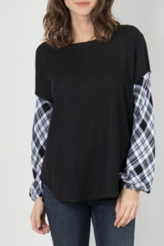 Simply Noelle Waffle Knit Top - Product Mini Image