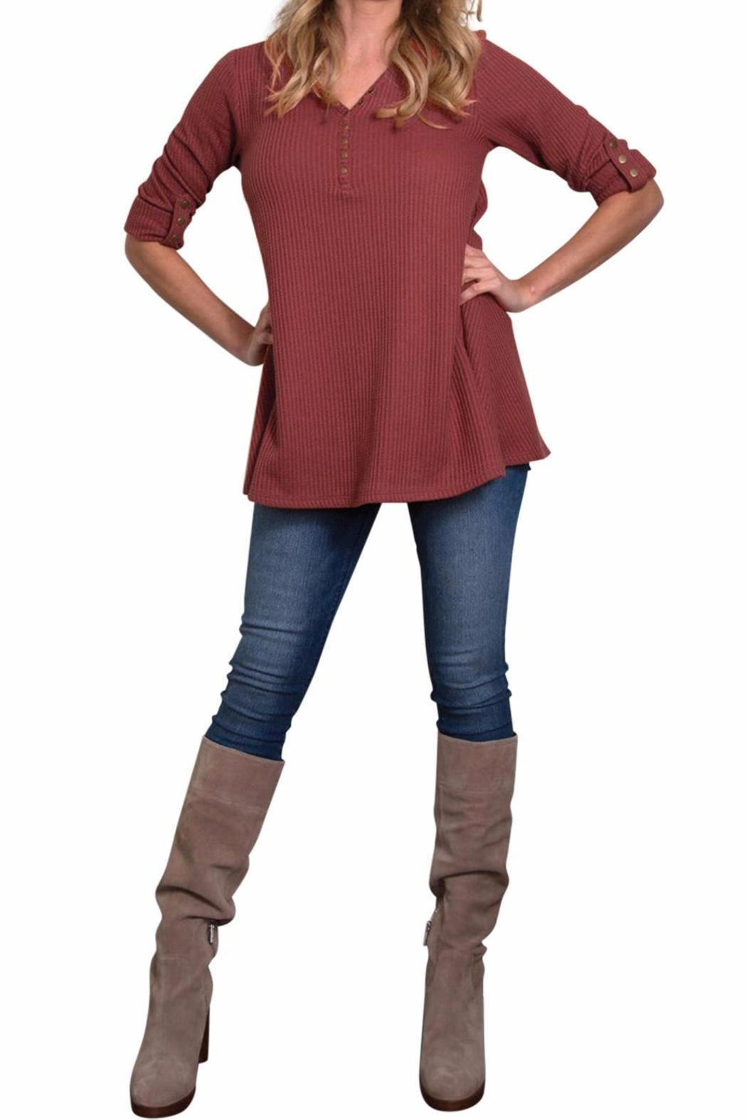 Simply Noelle Waffle Thermal Top From Ohio By Owl Eyes On