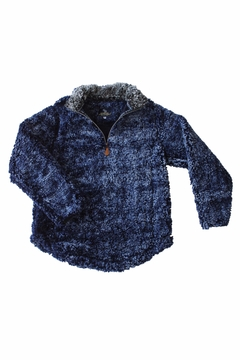 Shoptiques Product: Navy Sherpa Pullover