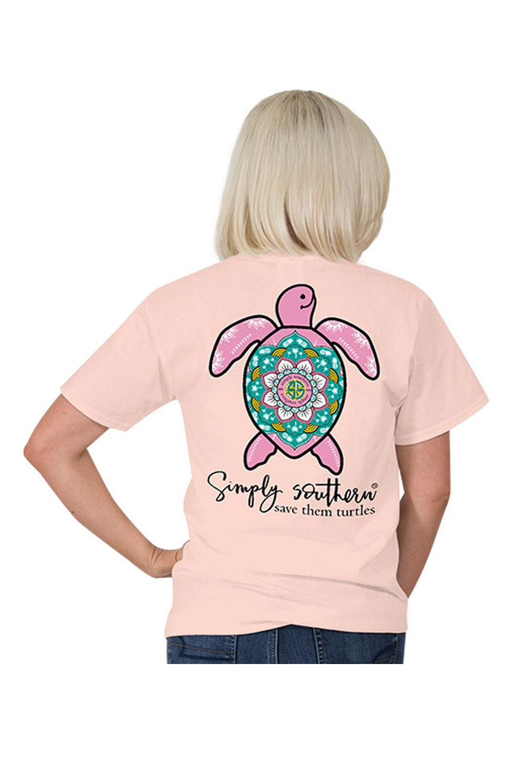 Simply Southern Save Turtles T-Shirt - Front Cropped Image