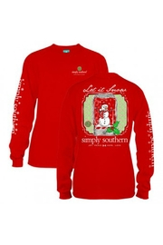 Simply Southern Snowman Shirt - Product Mini Image