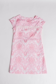 Simply Sweet Kids Pink Damask Dress - Front cropped