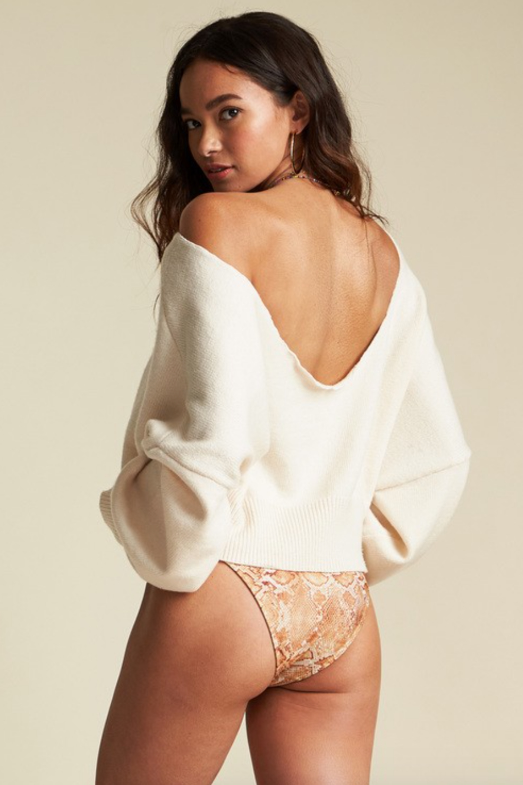 Billabong x Sincerely Jules Match Maker Sweater - Side Cropped Image
