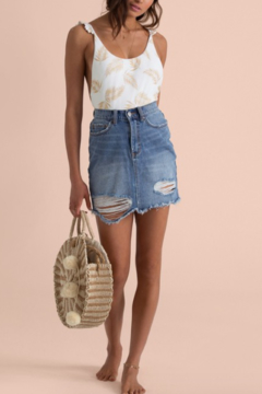 Shoptiques Product: Sincerely Jules Take Risk Denim Skirt