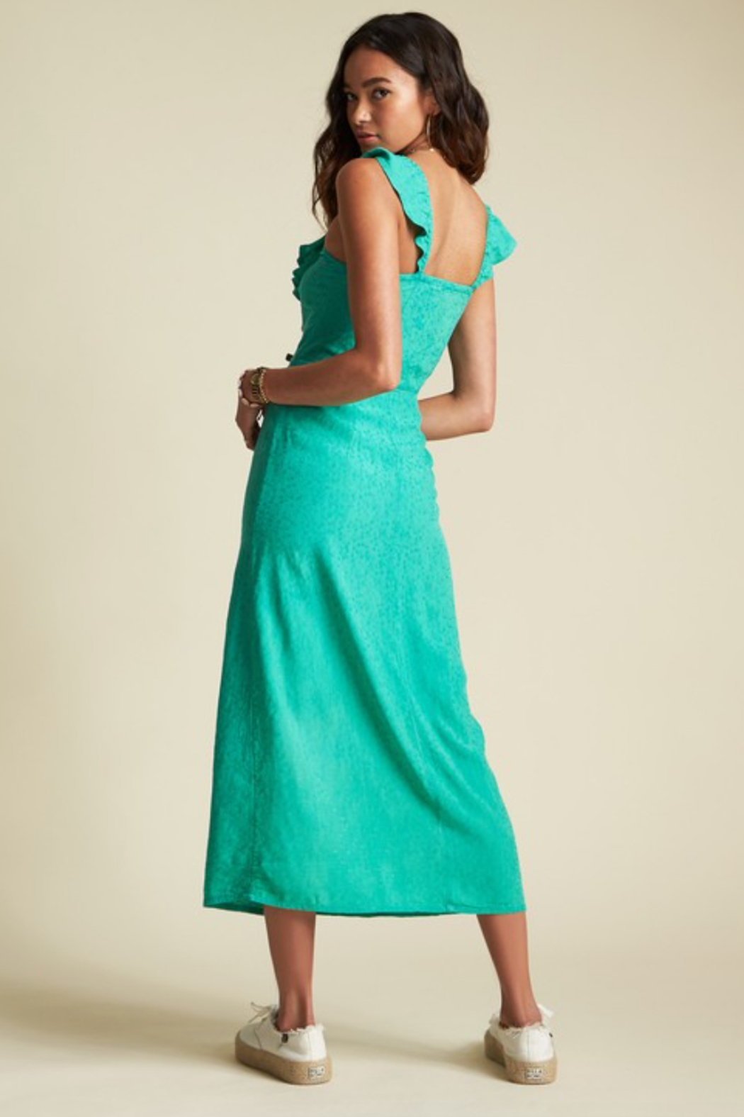 Billabong x Sincerely Jules Love Tripper Midi Dress - Side Cropped Image