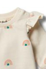 Wilson & Frenchy  Sing a Rainbow Ruffle Sweat Top - Side cropped