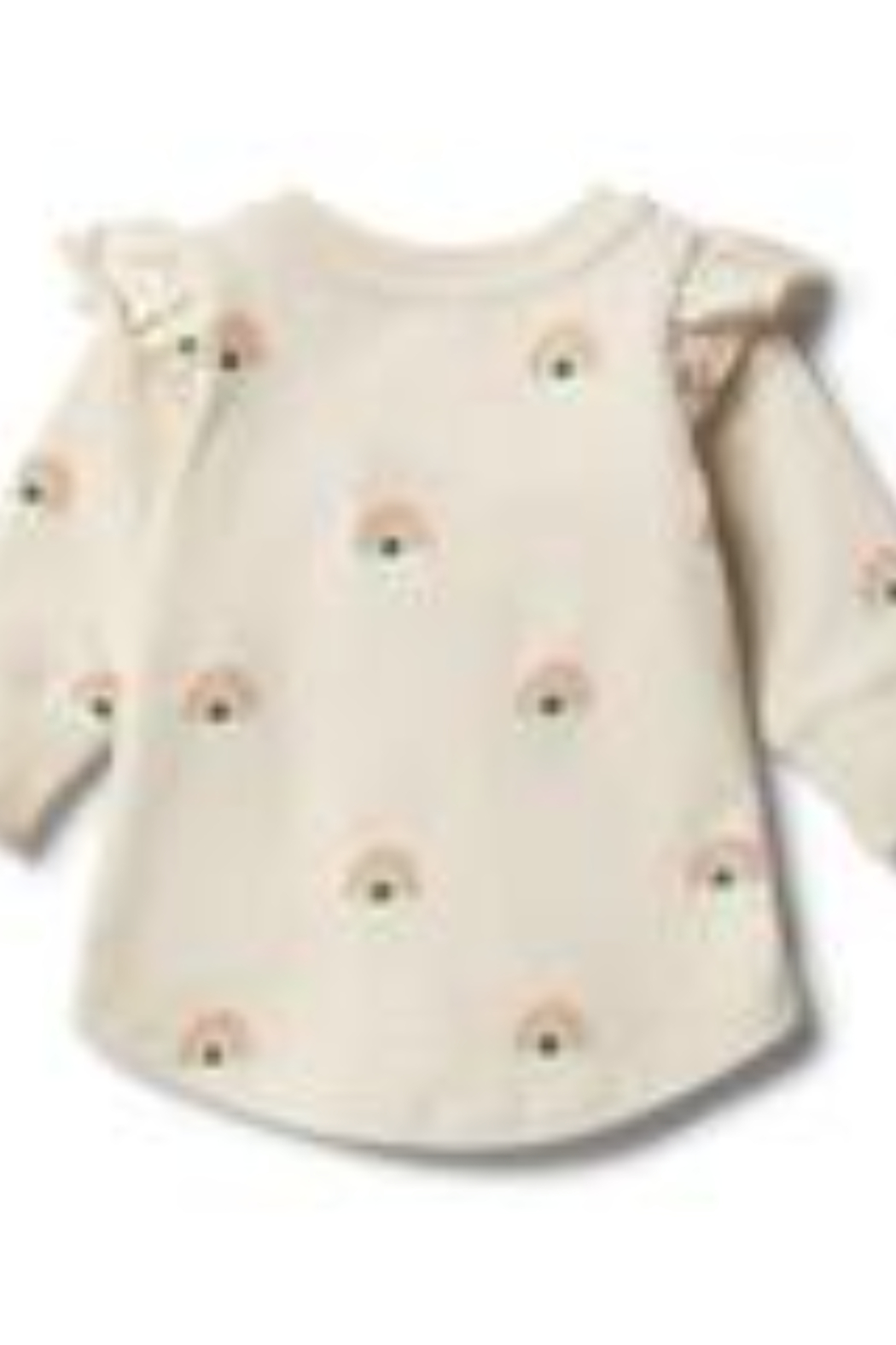 Wilson & Frenchy  Sing a Rainbow Ruffle Sweat Top - Back Cropped Image