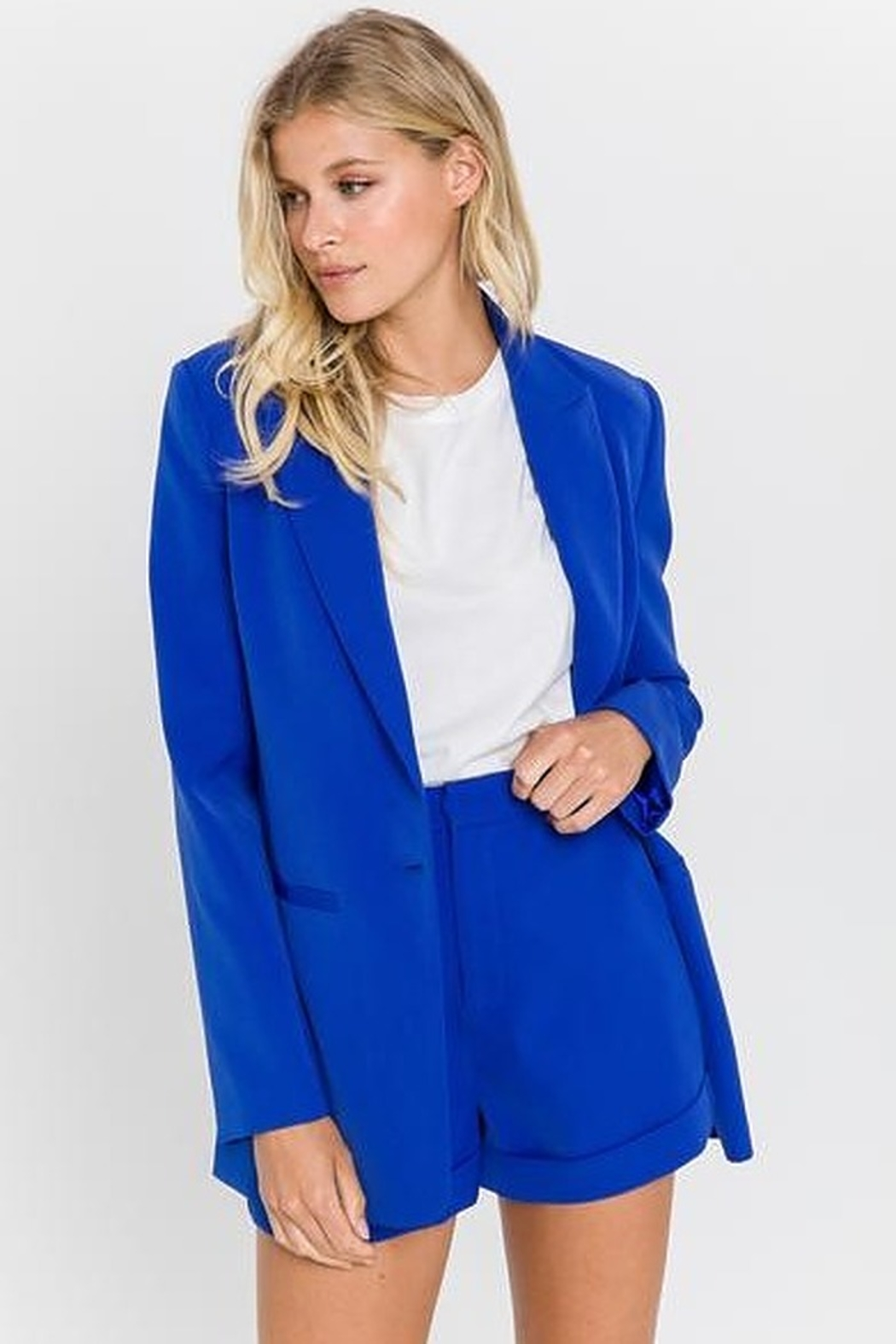 Endless Rose Single Breasted Blazer - Front Cropped Image