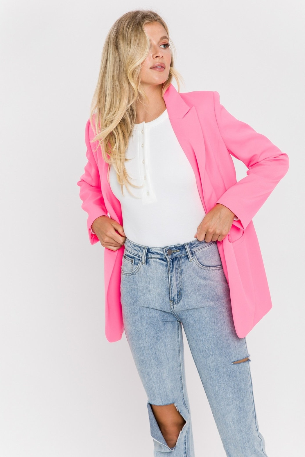 Endless Rose Single Breasted Blazer - Front Full Image
