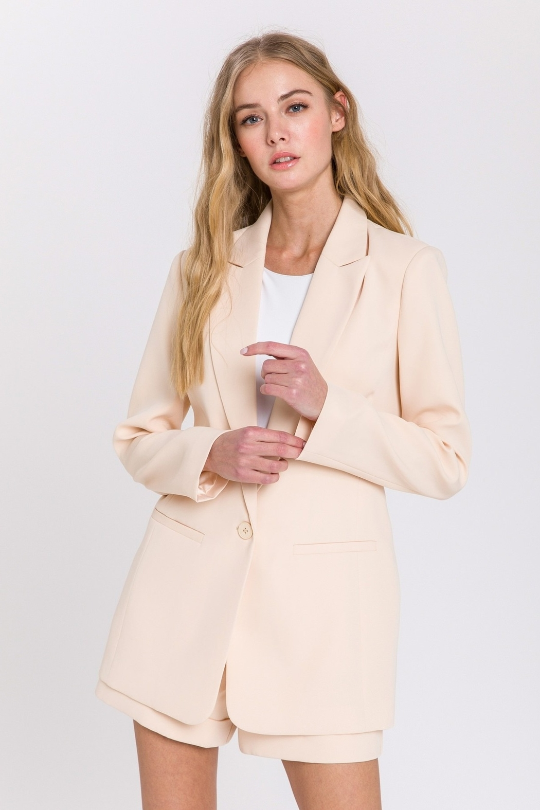 Endless Rose Single Breasted Blazer - Main Image