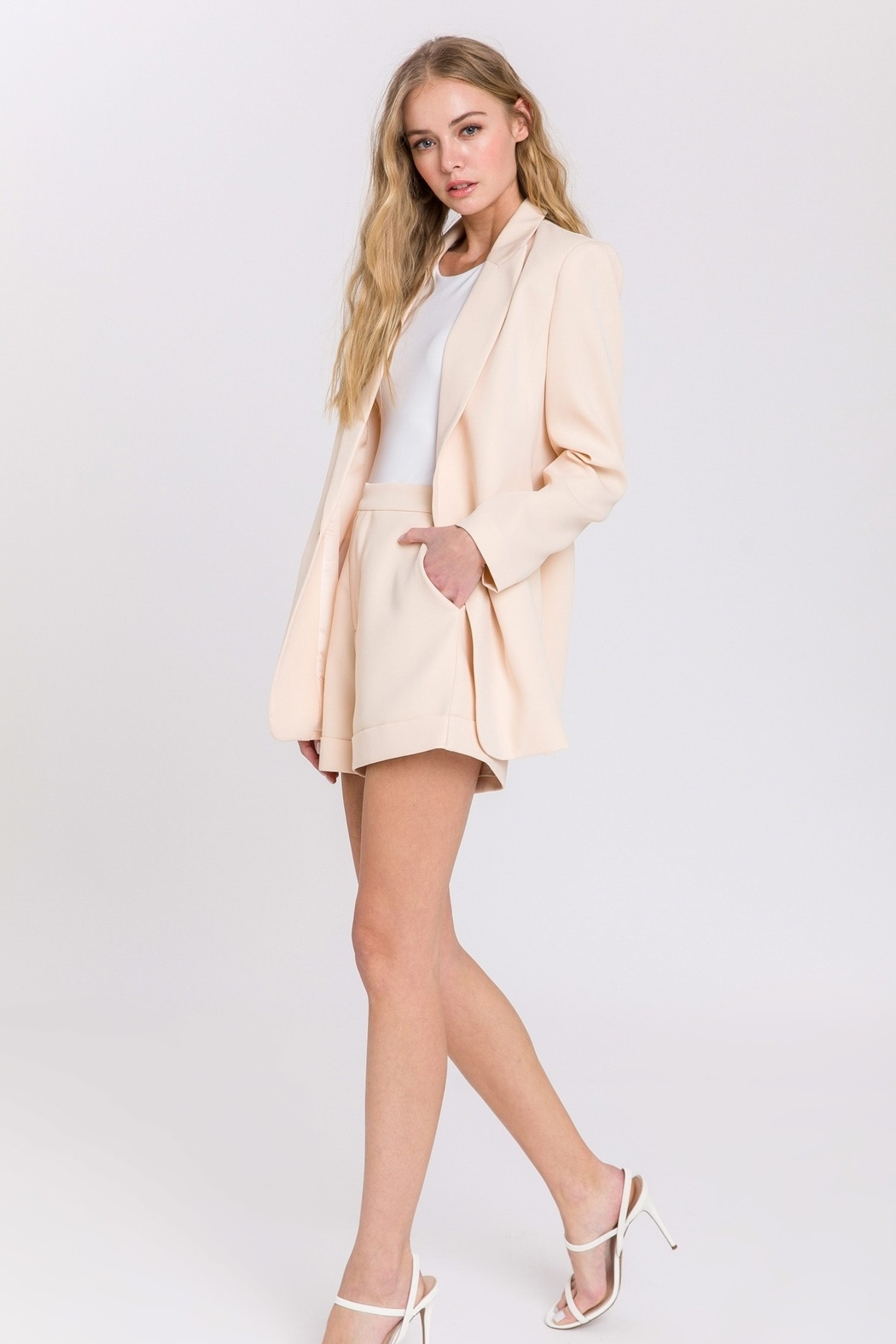 Endless Rose Single Breasted Blazer - Side Cropped Image