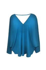 Single Butterfly V-Neck Blouse - Product Mini Image