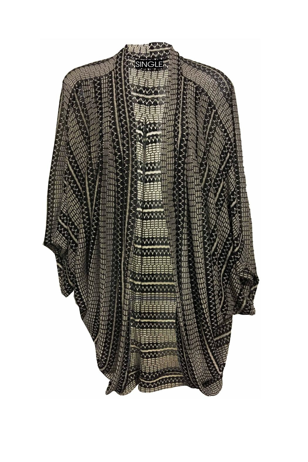 Single Cocoon Open Cardigan - Main Image