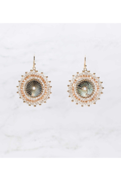 Rush by Denis & Charles Single Disc Beaded Earring - Product List Image