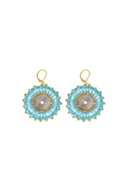 Rush by Denis & Charles Single Disc Beaded Earring - Front cropped