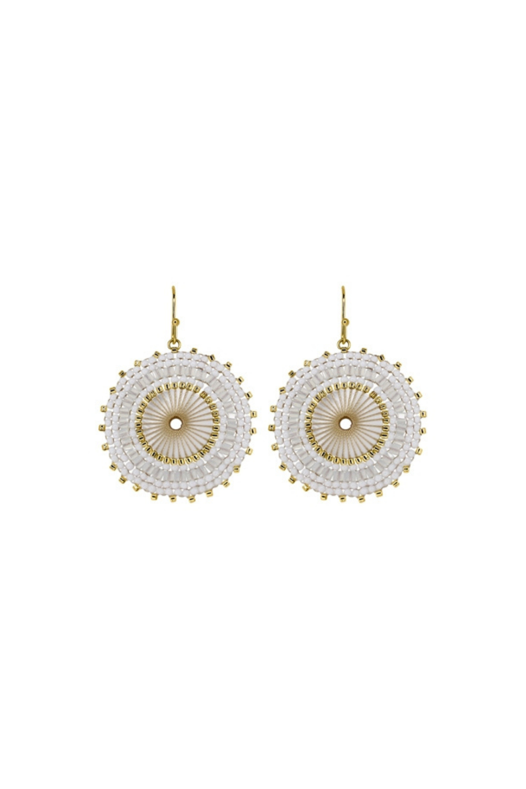 Rush by Denis & Charles Single Disc Beaded Earring - Front Cropped Image