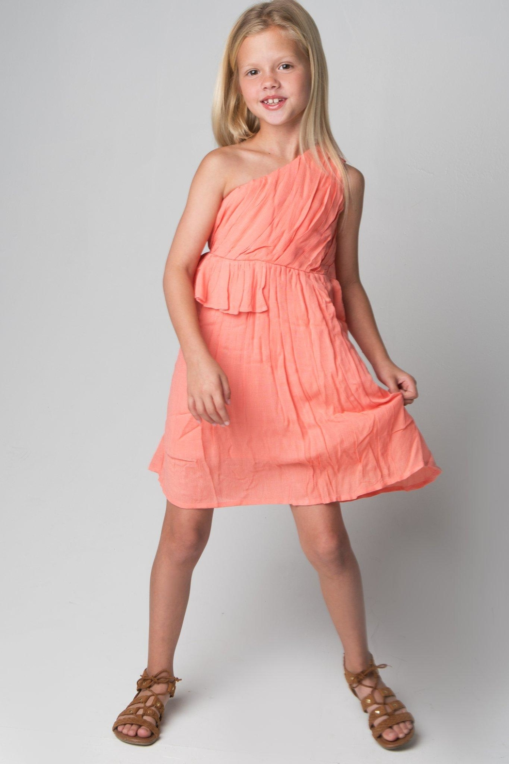 YO BABY Single Shoulder Dress - Front Cropped Image