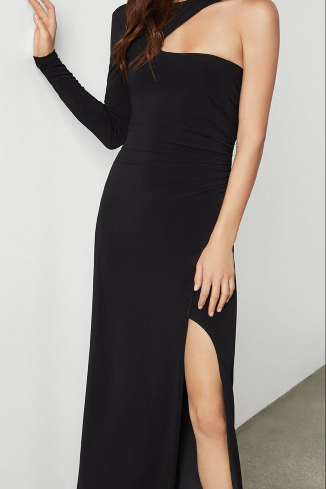 BCBG MAXAZRIA Single Sleeve Gown - Side Cropped Image